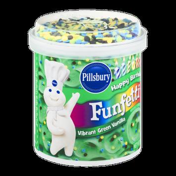 Pillsbury Happy Birthday Funfetti Frosting Vibrant Green Vanilla