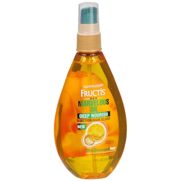 Garnier Fructis Marvelous Oil Deep Nourish 5-Action Hair Elixir - 5 oz