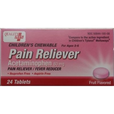 Quality Plus Children's Acetaminophen, Chewable, Fruit Flavored, 24ct, Compare to Children's Tylenol