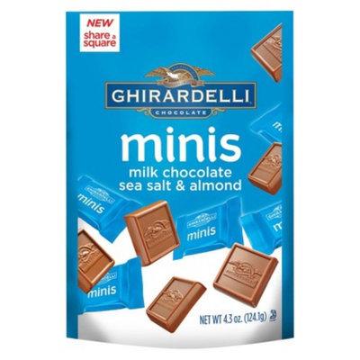 Ghirardelli Milk Chocolate Sea Salt Almond minis Stand Up