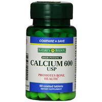 Nature's Bounty High Potency Calcium 600, 60 Tablets (Pack of 3)