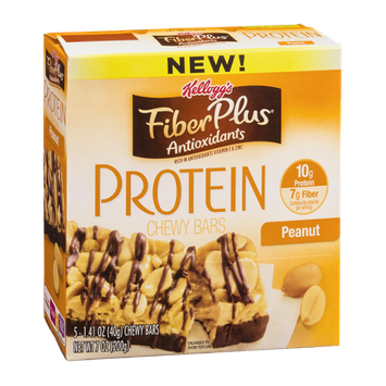 Kellogg's Fiber Plus Protein Chewy Bars Peanut - 5 CT