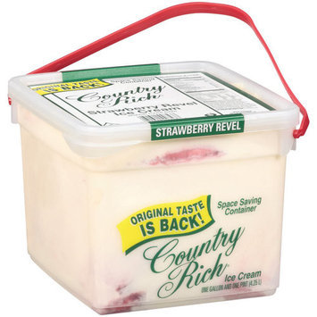 Country Rich Strawberry Revel Ice Cream, 4.5 qt