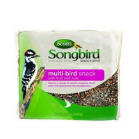 Scotts Songbird Selections 1022828 Multi-Bird Snack with Fruit & Nuts, Wild Bird Food Bag, 1.75-Pound