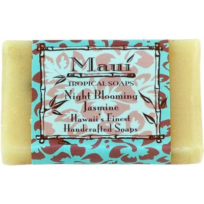 Maui Tropical Soaps Hawaiian Guest Soap Night Blooming Jasmine, 1.5-Ounce (Pack of 4)