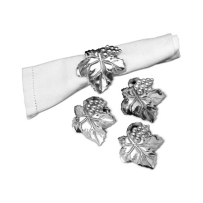 Arthur Court Napkin Rings, Set of 4 Grape