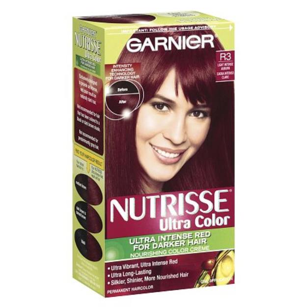 Garnier Nutrisse Ultra Color Light Intense Auburn R3 for Darker Hair Permanent Color