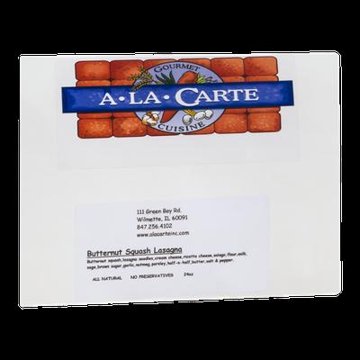 A La Carte Gourmet Cuisine Butternut Squash Lasagna