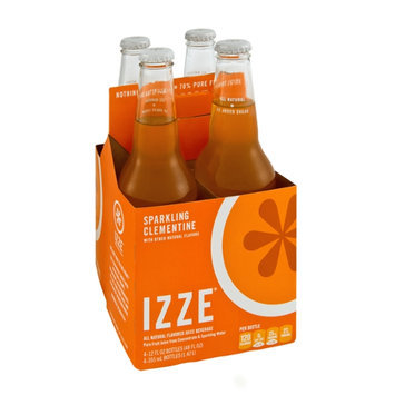 Izze All Natural Sparkling Clementine Flavor Juice Beverage - 4 CT