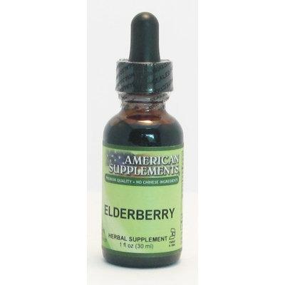 Elderberry No Chinese Ingredients American Supplements 1 oz Liquid