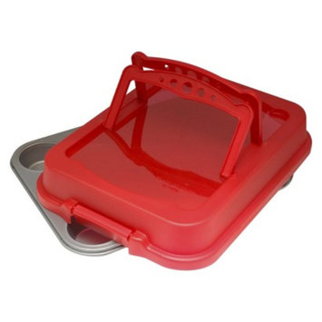 OvenStuff 12 Cup Cupcake Carrier - Red