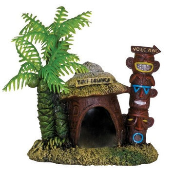 Blue Ribbon Pet Products Exotic Environments Betta Hut with Palm Tree