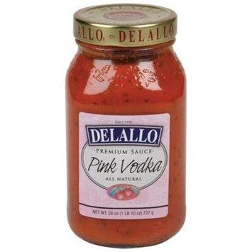 Delallo, Sauce Pink Vodka, 26 OZ (Pack of 6)