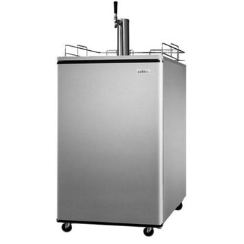 Summit Appliance SBC500 Series Kegerator With Platinum Sides and Stainless-Steel Door