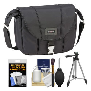 Tamrac 5422 Aria 2 Compact DSLR / ILC Camera Shoulder Bag (Black) with Tripod + Cleaning Kit