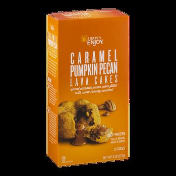 Simply Enjoy Caramel Pumpkin Pecan Lava Cakes - 2 CT