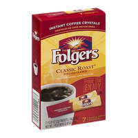 Folgers Instant Coffee Crystals Classic Roast Single Serve Packets - 7 CT