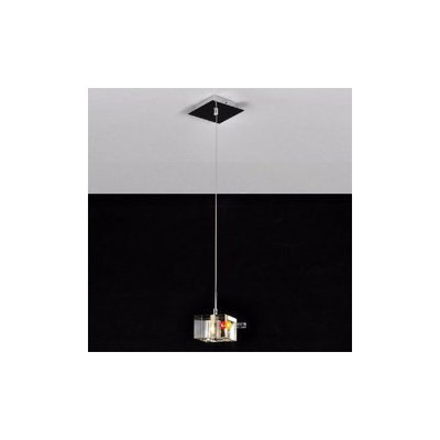 Arctic Stainless Steel 1-Light Mini Pendant Light with K9 Crystal ball Drop