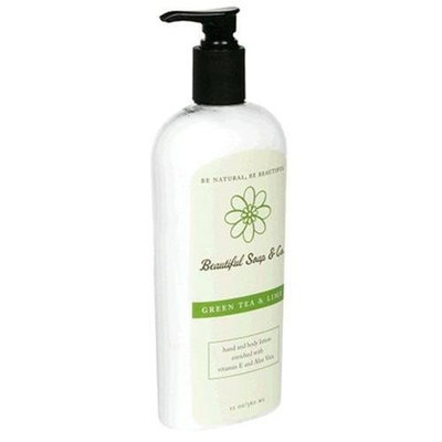 Beautiful Soap & Co. Hand and Body Lotion, Green Tea & Lime, 12 oz (360 ml) (Pack of 2)