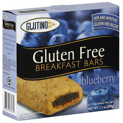 Glutino Gluten Free Breakfast Bars Bluberry