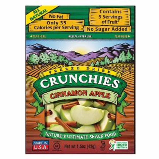 Crunchies Freeze Dried Snack Food Cinnamon Apple