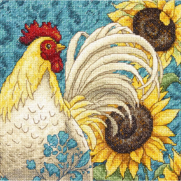 Dimensions Acquisition Llc Dimensions Gold Collection Petite Rooster Counted Cross Stitch Kit 18 Count