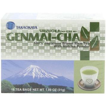 Takaokaya Tea, Genmai-Cha Tea, 16-Count Tea Bags, Pack of 12