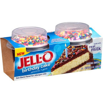 JELL-O Birthday Cake Pudding Snacks