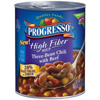 Progresso High Fiber Soup, Three-Bean Chili with Beef, 18.5-Ounce Cans (Pack of 12)