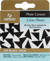 Canson CANSON Photo Corners 250/Pkg Black