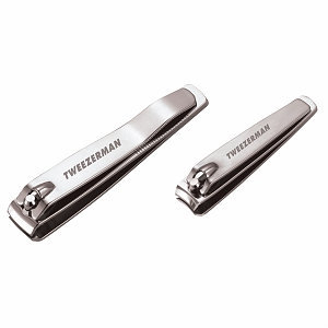 Tweezerman Stainless Steel Nail Clipper Set for Cutting Fingernails and Toenails