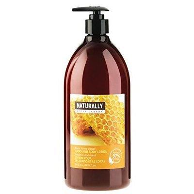 Upper Canada Soap Naturally Hand and Body Lotion, Warm Honey Nectar, 32.5-Ounce