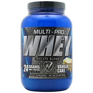 Ids 2090129 2lbs MultiPro Whey Isolate Blend Vanilla Cake