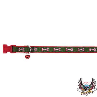 Bret Michaels Pets RockTM Zebra Bones Holiday Collar