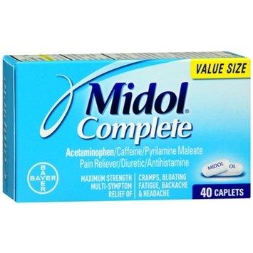 Midol Complete Pain Reliever Maximum Strength, Caplets, 40 ea