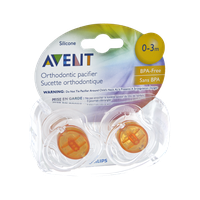 Philips Avent Silicone 0-3 Month Orthodontic Pacifier