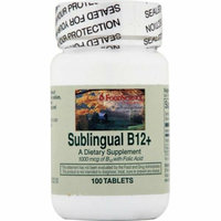 FoodScience of Vermont Sublingual B12 Cherry 100 Tablets