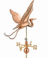 Good Directions Large Blue Heron Weathervane - Polished