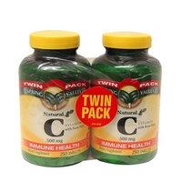 Spring Valley - Vitamin C with Rose Hips 500 mg, Twin Pack, 250 Tablets Each Bottle