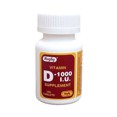 Rugby Vitamin D 1000 I.U Supplement Tablets - 100 Ea
