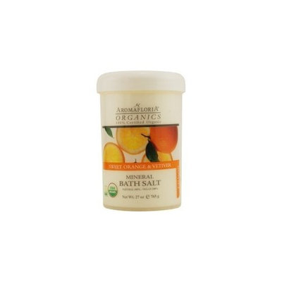 ORGANICS by Aromafloria: SWEET ORANGE & VETIVER MINERAL BATH SALT 27 OZ