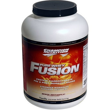 Champion Nutrition Pure Whey Fusion 5-pound Bottle Vanill, Bottle