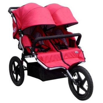 Tike Tech All Terrain X3 Sport Double Stroller - Alpine Red
