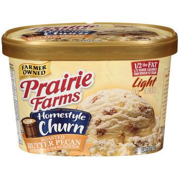 Prairie Farms Homestyle Churn Light Butter Pecan Ice Cream, 1.75 qt