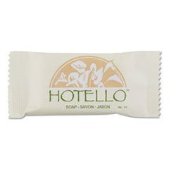 Hotello Bar Soap, 1/2 oz, Individually Wrapped, 1000/Carton
