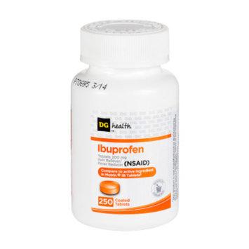 DG Health Ibuprofen, 250 tablets