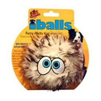 Tuffy's Pet Products Silly Squeakers IBalls Dog Toy, Medium, Brown