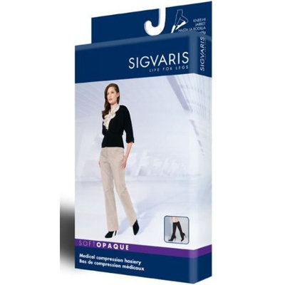 Sigvaris 842C Soft Opaque 20-30 mmHg Closed Toe Knee Highs Size: Small Short (SS), Color: Midnight Blue 09