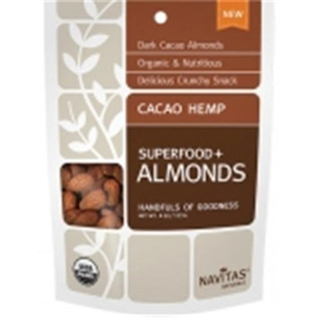 Navitas Naturals CACAO HEMP ALMONDS, OG2, (Pack of 12)