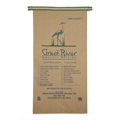 Great River Organic Milling, Organic Unbleached Wheat Flour, 25-Pound Package